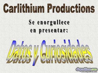 Carlithium Productions