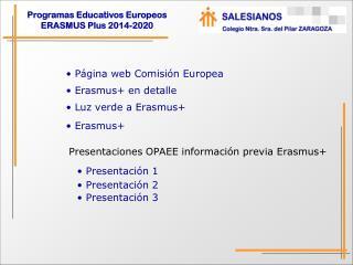 Erasmus+ en detalle