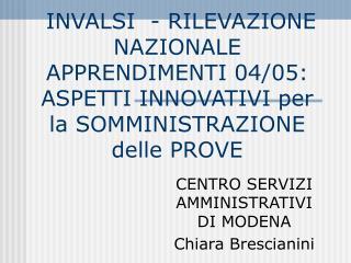 INVALSI  - RILEVAZIONE NAZIONALE APPRENDIMENTI 04