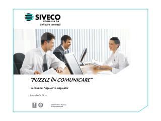 """""""PUZZLE ÎN COMUNICARE"""""""