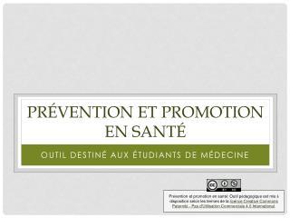 Prévention et promotion en santé
