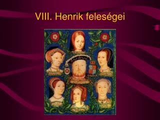 VIII. Henrik feles�gei