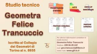 Geometra Felice Trancuccio