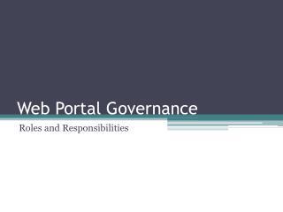 Web Portal Governance
