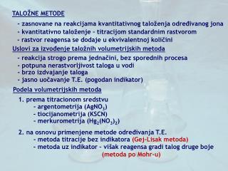 TALO�NE METODE