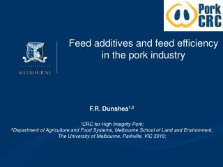Feed additives and feed efficiency in the pork industry