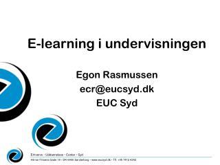 E-learning i undervisningen