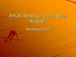 ARGE Bewegung und Sport Knaben