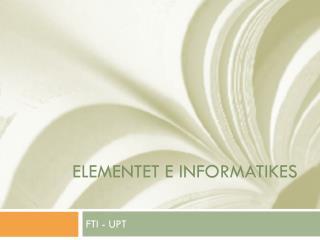 Elementet  e INformatikes