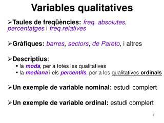 Variables qualitatives