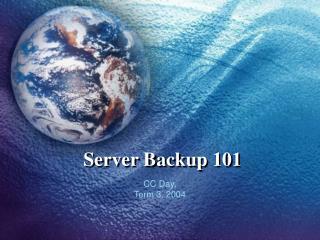 Server Backup 101