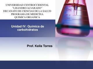 Unidad IV: Qu�mica de carbohidratos
