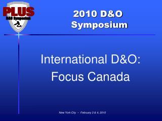 International D&O: Focus Canada