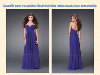 robe en couleurs differents