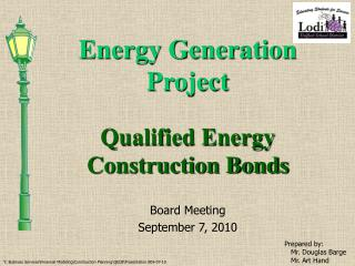 Energy Generation Project
