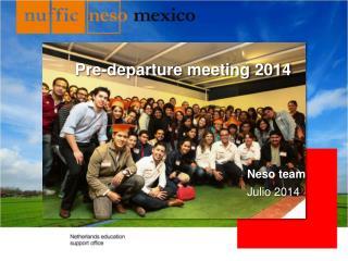 Pre-departure meeting 2014