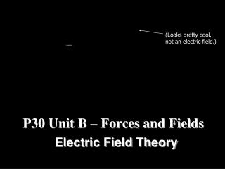 P30 Unit B – Forces and Fields