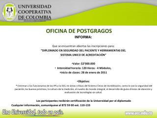 OFICINA DE POSTGRAGOS