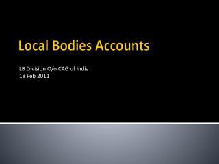 Local Bodies Accounts