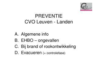 PREVENTIE CVO Leuven - Landen