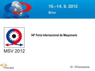 54 �  Feria Internacional de Maquinaria