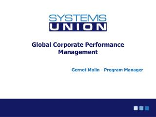 Global Corporate Performance Management