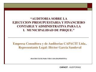 CAPACIT  - AUDITORIAS