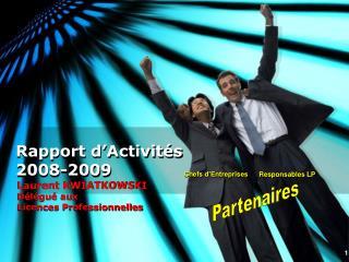 Rapport d'Activités 2008-2009