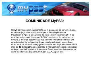 COMUNIDADE MyPS3t
