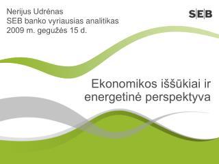 Ekonomikos iššūkiai ir energetinė perspektyva
