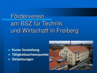 Förderverein  am BSZ für Technik  und Wirtschaft in Freiberg
