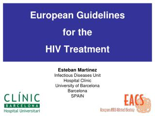 European Guidelines for the HIV Treatment