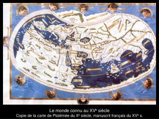 Le monde connu au XV e  siècle