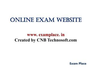 Online Exam Website