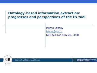 Ontology-based information extraction: progresses and perspectives of the Ex tool