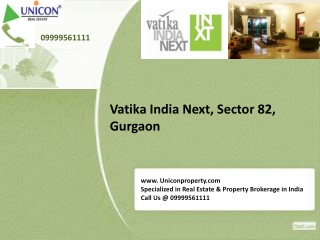 Vatika India Next Floors - Call @ 09999561111