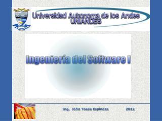 Ing.  John  Toasa  Espinoza