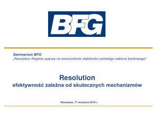 Seminarium BFG