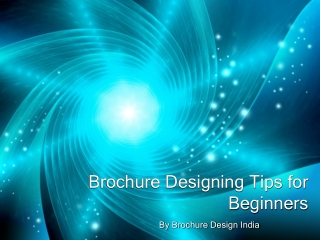 Brochure Designing Tips for Beginners
