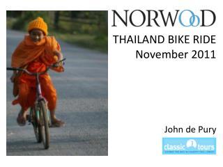 THAILAND BIKE RIDE November 2011