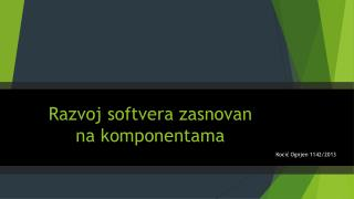 Razvoj softvera zasnovan na komponentama