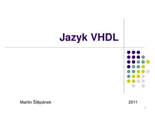 Jazyk VHDL