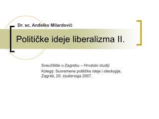 Politicke ideje liberalizma II.