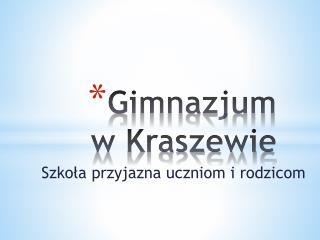 Gimnazjum w Kraszewie