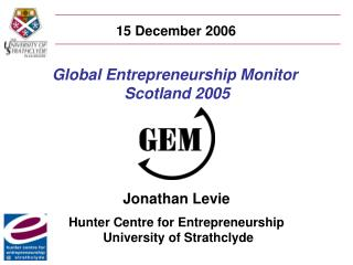 Global Entrepreneurship Monitor  Scotland 2005
