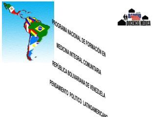 PROGRAMA NACIONAL DE FORMACIÓN EN  MEDICINA INTEGRAL COMUNITARIA