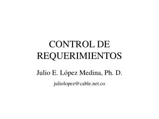 CONTROL DE REQUERIMIENTOS