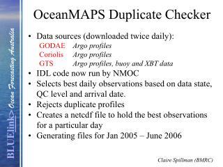 OceanMAPS Duplicate Checker