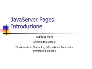 JavaServer Pages: Introduzione