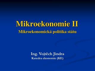 Mikroekonomická politika státu